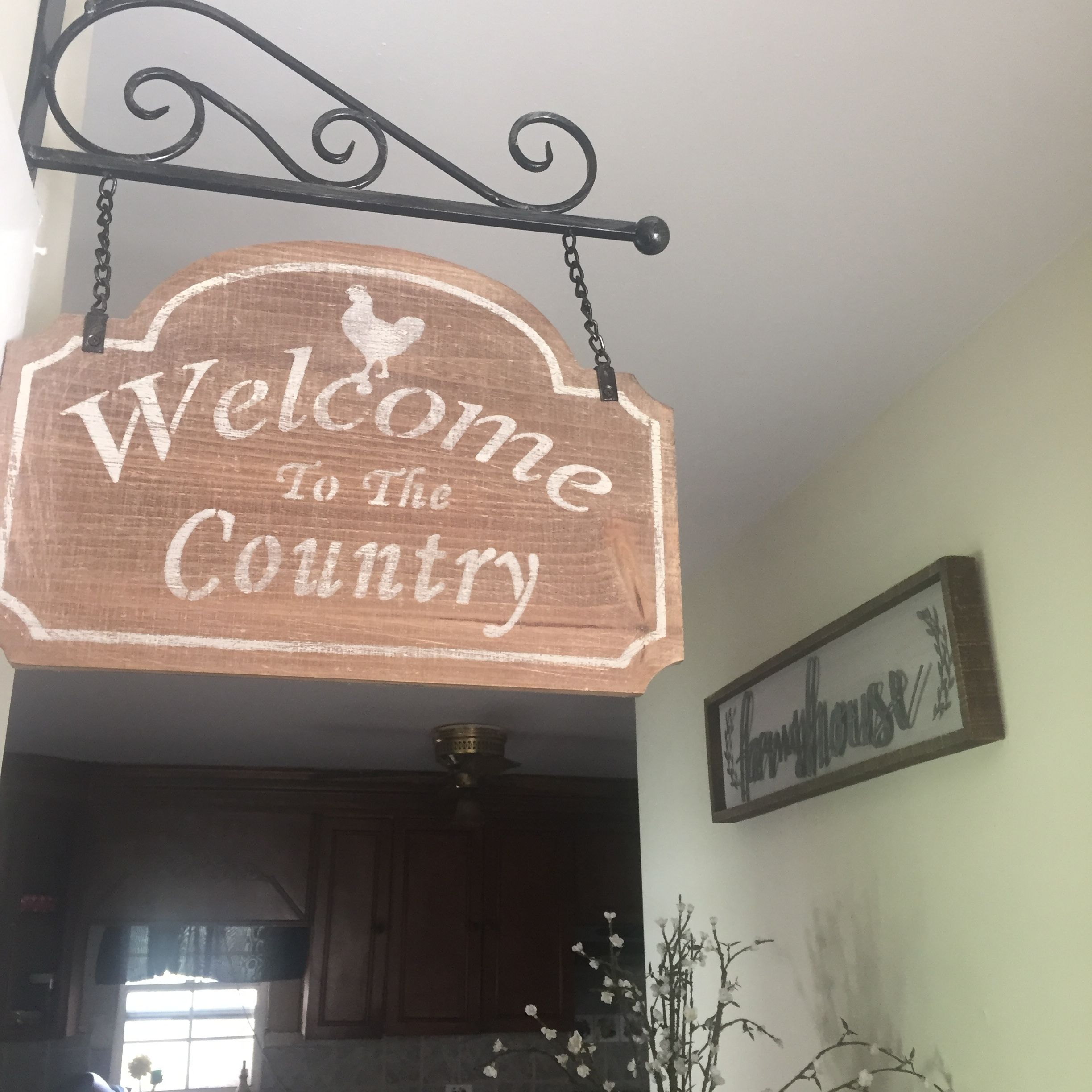 to the country wall decor sign (Hobby Lobby