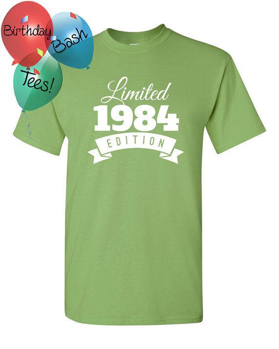 1984 Birthday Shirt 32 Limited Edition By BirthdayBashTees On Etsy