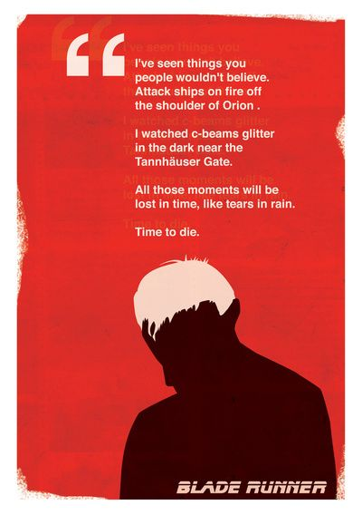 Blade Runner Tears In Rain Art Print Bladerunner Blade