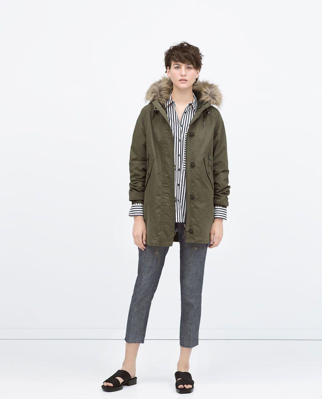 Manteau croise femme gris