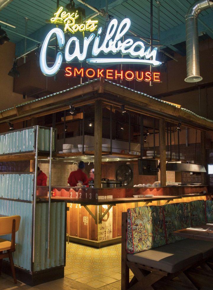 Levi s caribbean smokehouse by b designers london uk