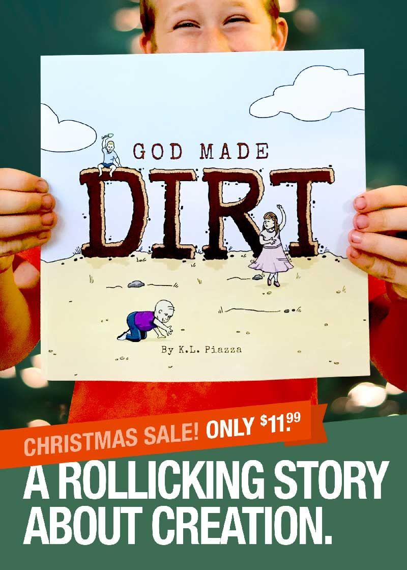 God made dirt a christian kids book with a rollicking