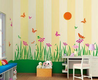 Theme Butterflies Day Kids Bedroom Walls Kid Room Decor Kids Room Accessories