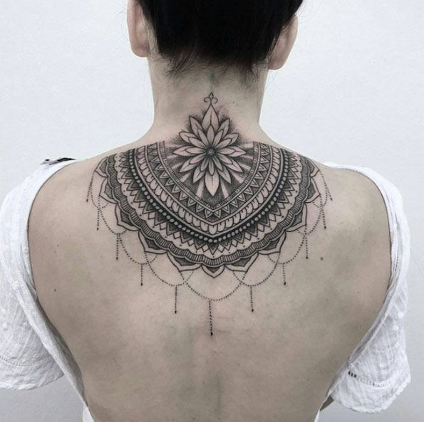 60 Gorgeous Mandala Tattoos You Ll Wish Were Yours Tattooblend Neck Tattoo Tattoos Back Of Neck Tattoo