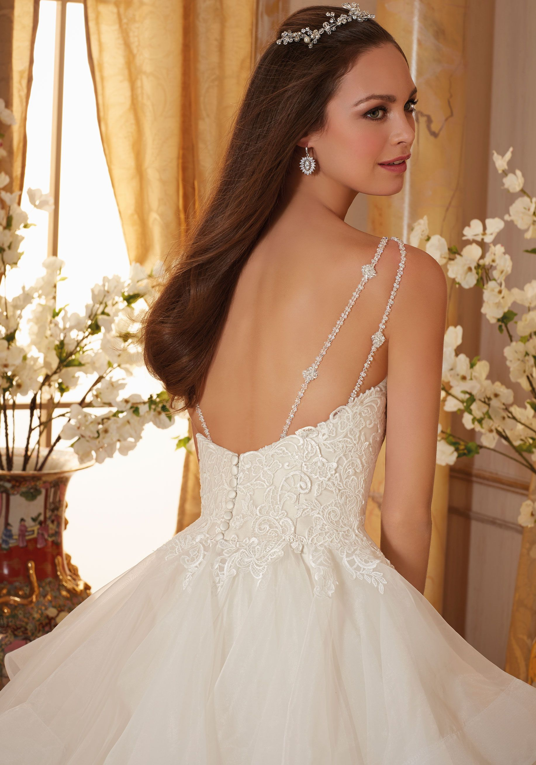 Crystal Beaded Straps Meet Embroidered Appliques on