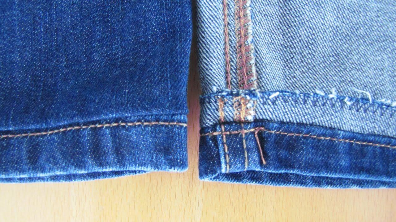 Jeans kürzen und den Original Saum erhalten | Comment coudre