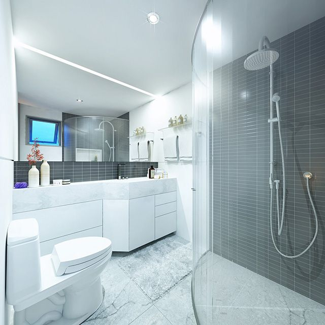 6 Ways To Open Up A Windowless Bathroom Realty Times Windowless Bathroom Bathroom Bathroom Space