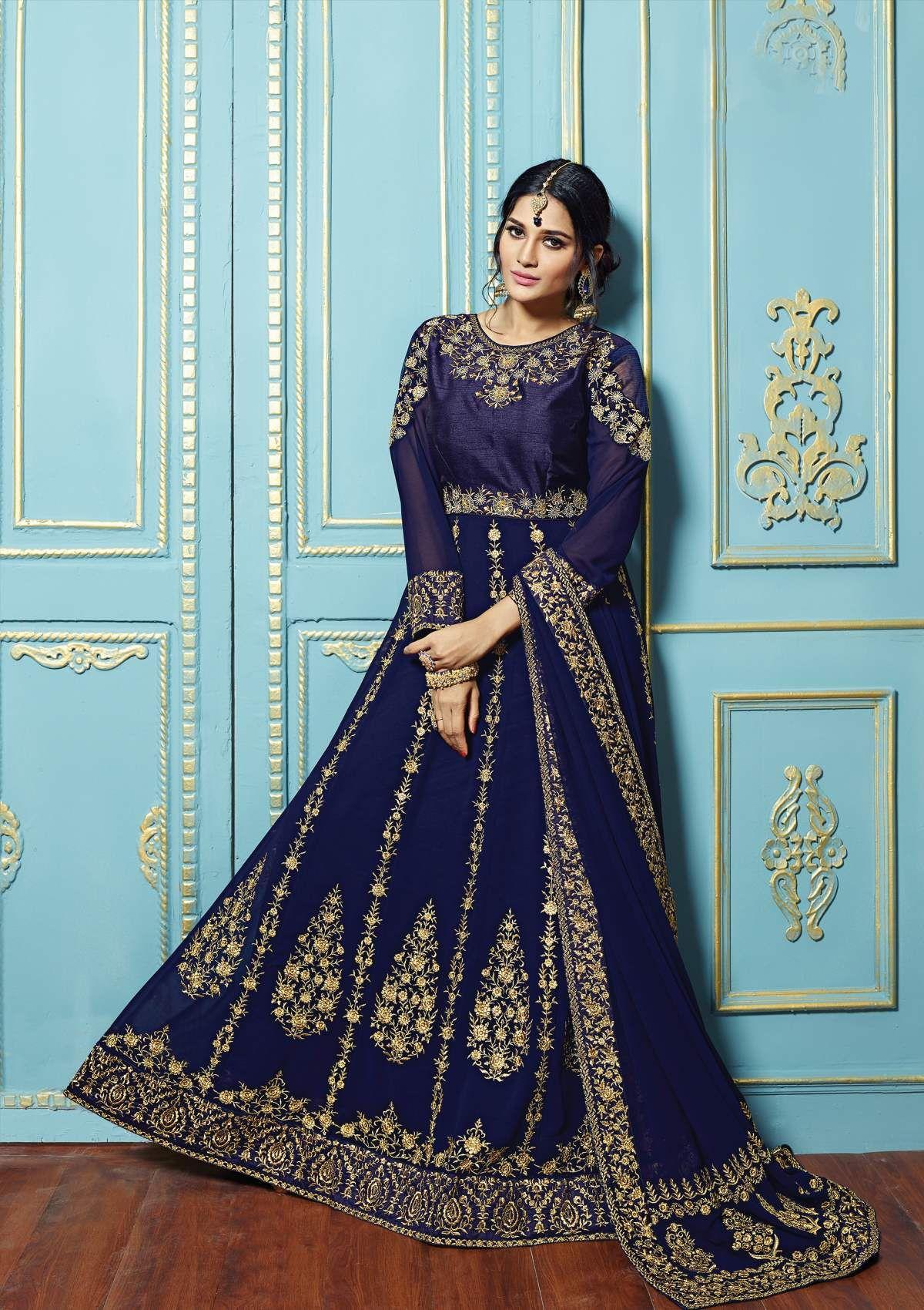 Anarkali Suit Catalog 5222 No 1408 Celebrate This Upcoming Festive ...