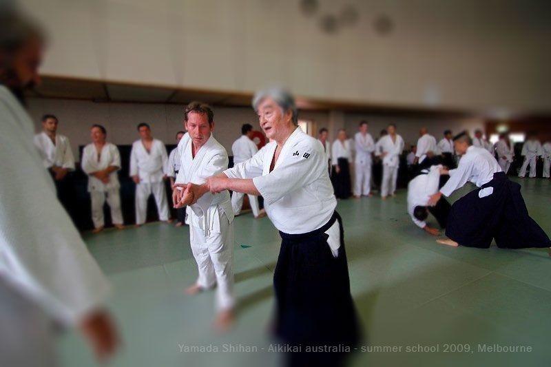 Lenny with master Yamada Shihan, Chief instructor of the New York aikikai. https://aikidobrunswick.wordpress.com/