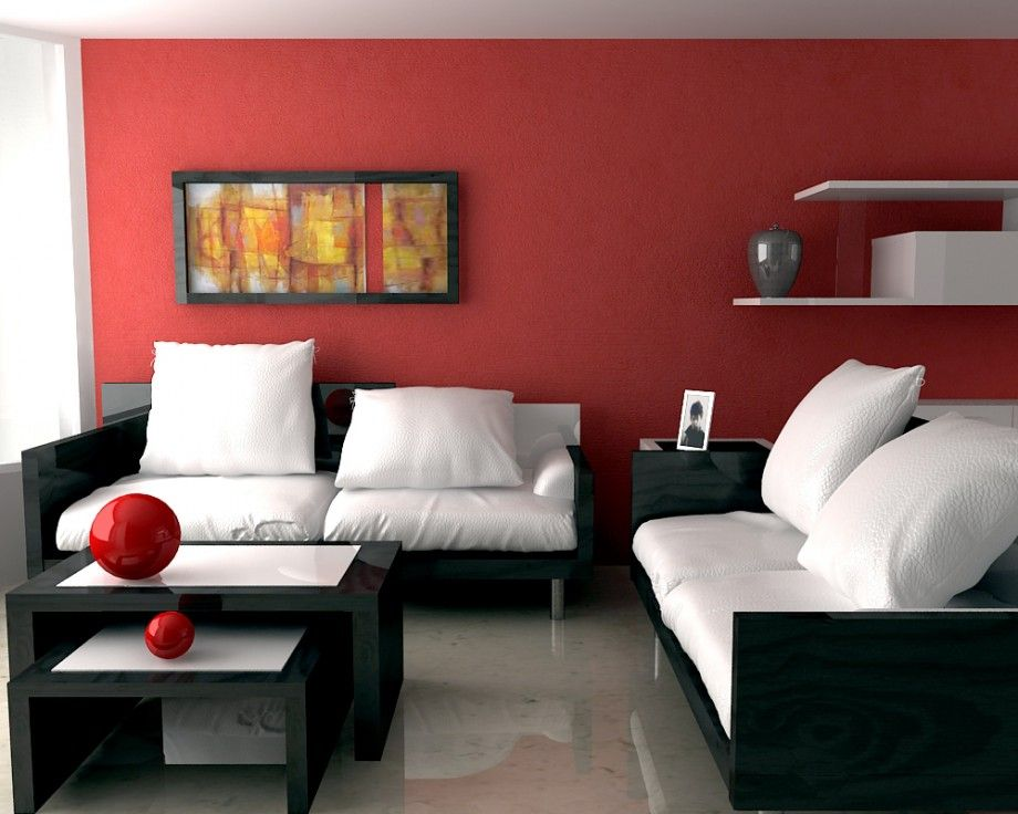Admirable Red Luxury Living Room Paint Color With White Black Sofa Ocoug Best Dining Table And Chair Ideas Images Ocougorg