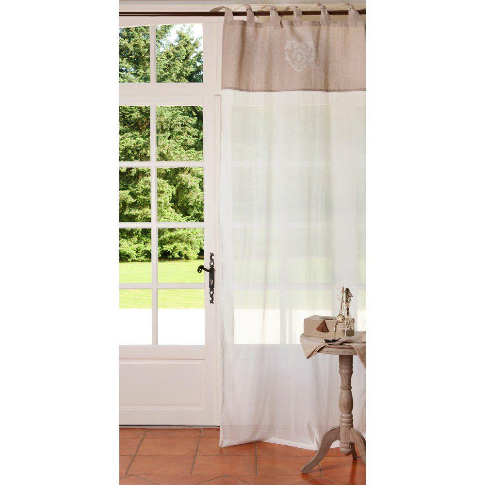 Maison Du Monde Tende.Tenda Beige In Cotone Con Laccetti Al Pezzo 105x250 Cm Shelter