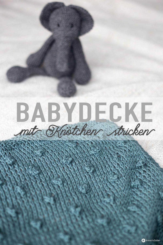 DIY Babydecke mit Knötchen stricken - mit weareknitters Gewinnspiel! #babyblanket