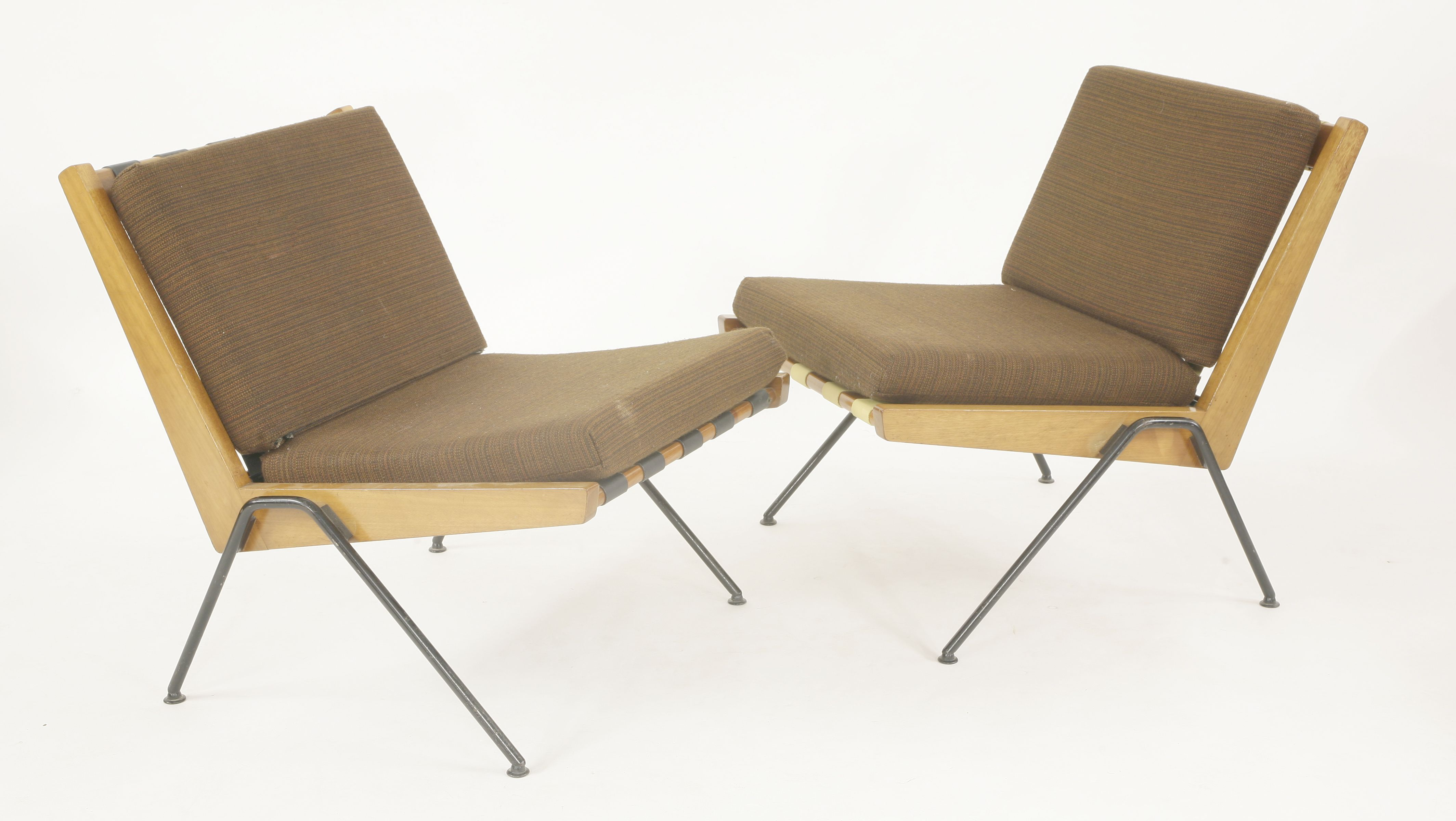 A Pair Of Chevron Chairs Designed By Robin Day For Hille In 1959