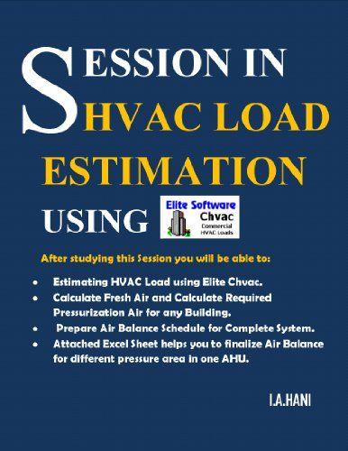 SESSION IN HVAC LOAD ESTIMATION USING Elite Chvac Software