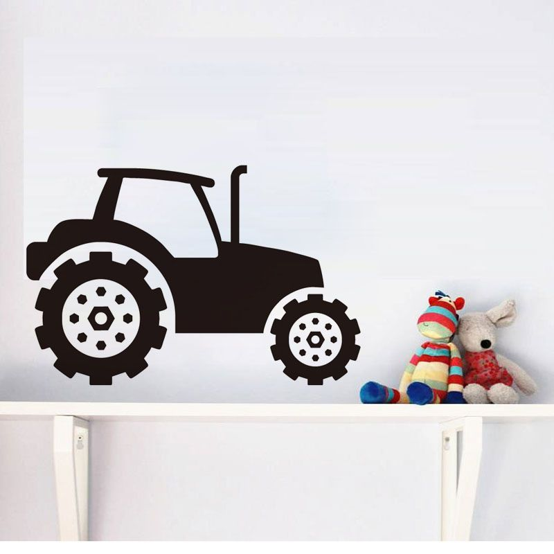 Dctop Kids Tractor Wall Sticker Vinyl Self Adhesive Removable Wall
