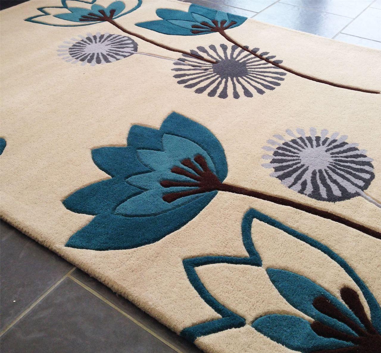 floral art etiquette beige teal rug  modern style rugs  gorgeous  - floral art etiquette beige teal rug  modern style rugs