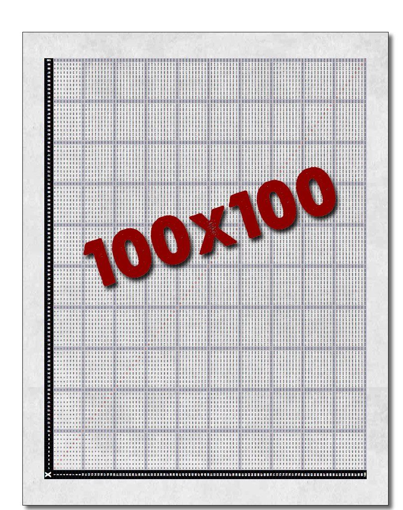 It's the Multiplication Chart 100x100! You may not think you need this many  multiplication facts on one printable page, but you don't know until you  get to ...