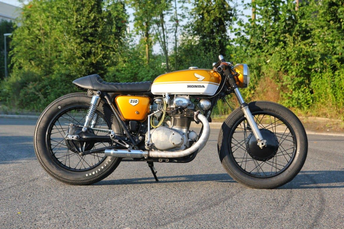 Honda CB 250 Cafe Racer Goldzilla By KlassikKustoms