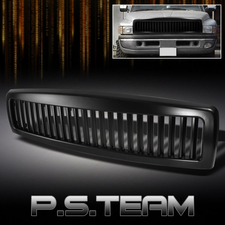 94 01 Dodge RAM Pickup Racing Sport Black Vertical Style