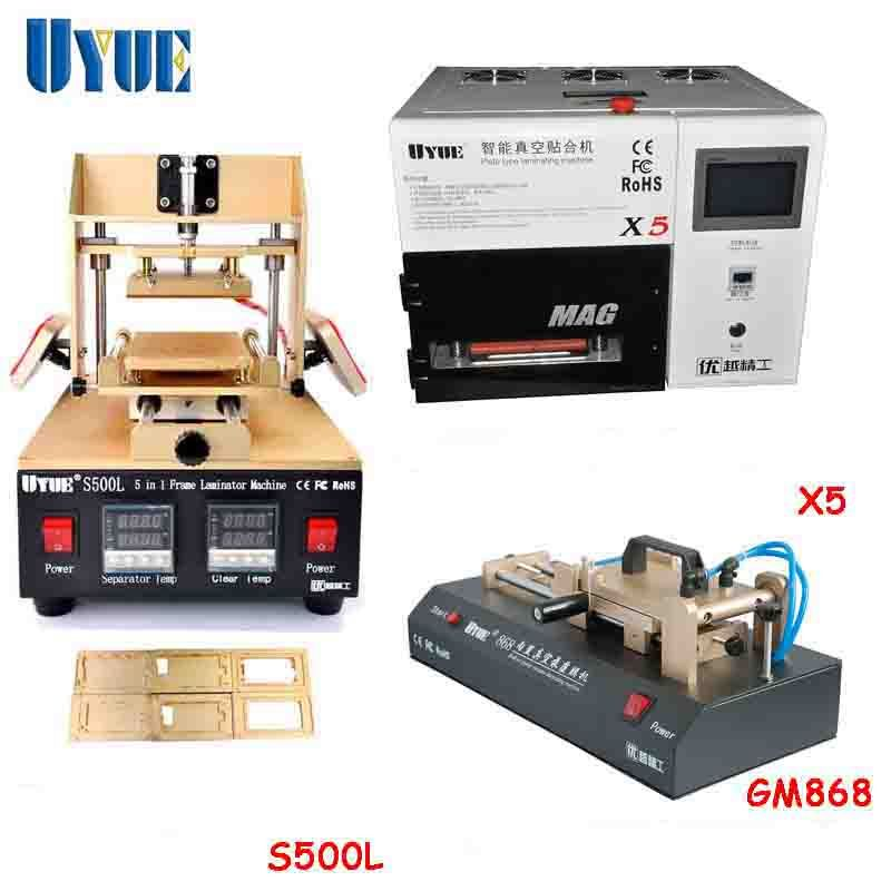 Uyue Film Laminator Machine 5 In 1 Lcd Separator Machine Vacuum Laminating Machine Repair Machine Set Gm868 S500 Laminators Graphic Card Electronic Products