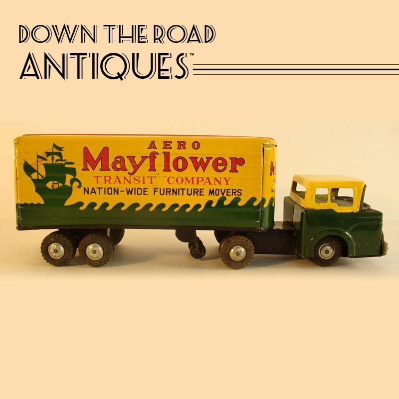 Marx Tin Mayflower Moving Van With Images Moving Van May