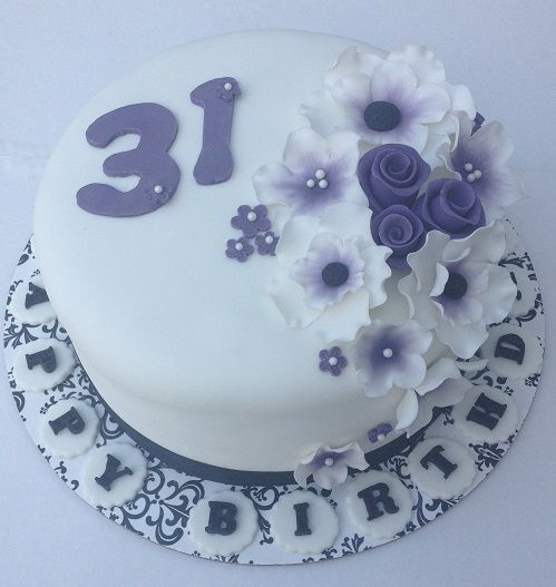 Happy 31st Birthday Fondant Cake Cake How To Make Cake 31st