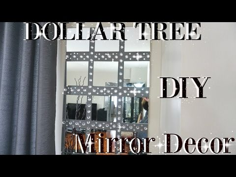 Diy Dollar Tree Glam Faux Mirror Wall Art Candle Holder