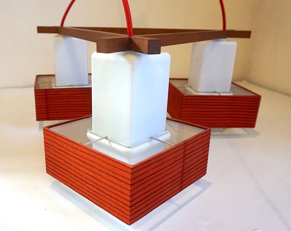 Bemerkenswert Lampe 3 Flammig Das Beste Von 50er 60er 3-flammig Teak Pendant Lamp Mid