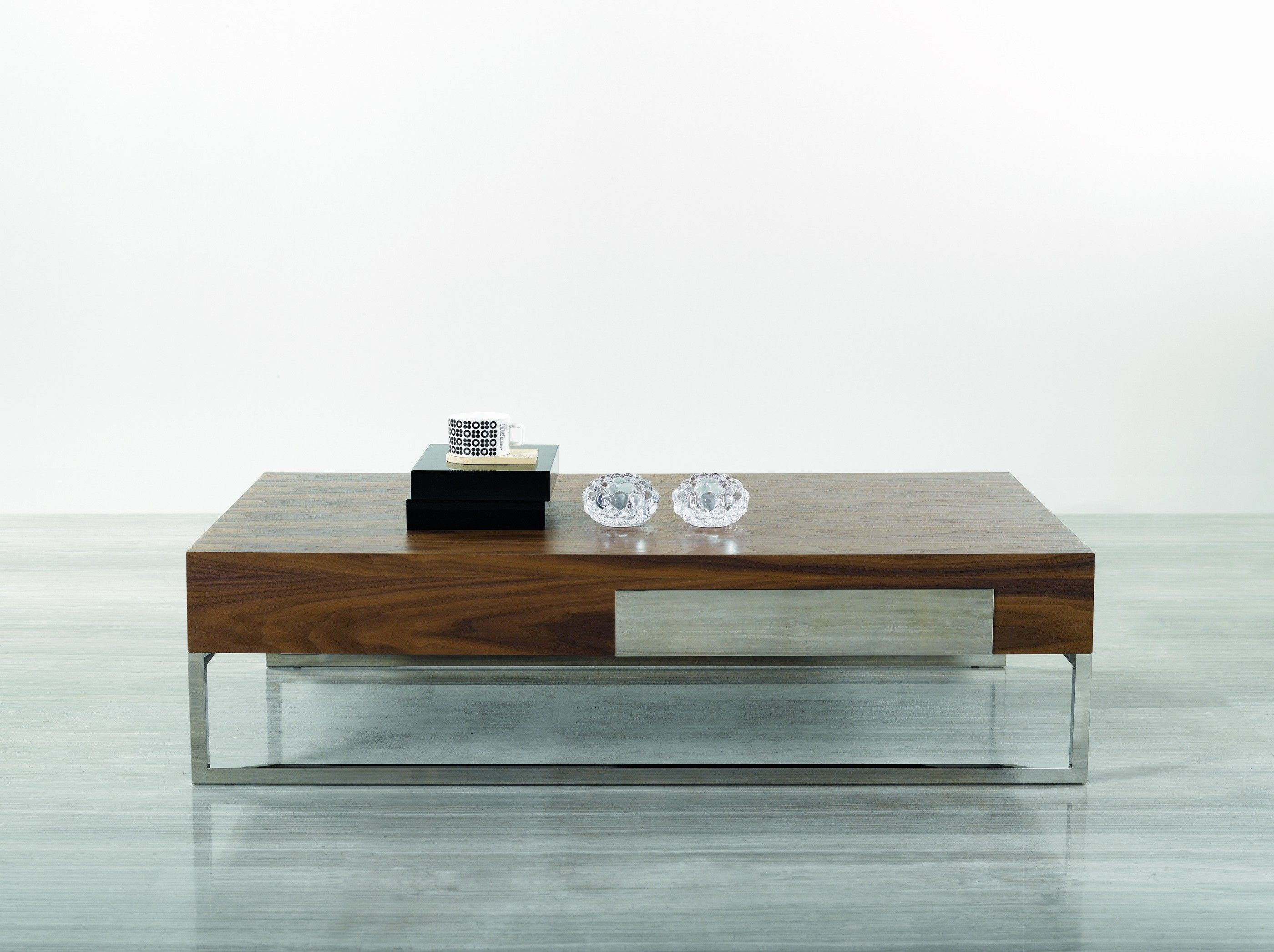 Fantastic short wood veneer coffee table design