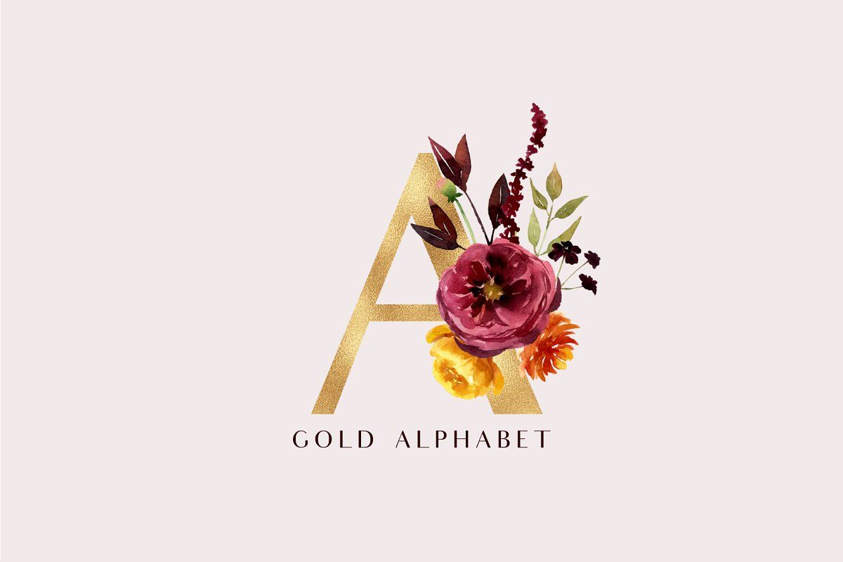 Ad: Hello autumn - watercolor collection by Youksy on @creativemarket. UPDATE ( 3 oktober) Gold alphabet, floral bouquets UPDATE ( 29 september) Pumpkins and decorated pumpkins, gold elements, gold frames #creativemarket #helloautumn