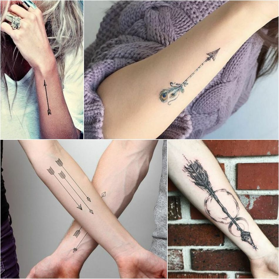 f8073c774da22 arrow tattoo - simple arrow tattoo - girly arrow tattoo. Explore more Tattoo  ideas on positivefox.com #arrowtattoo #arrowtattoosforguys ...