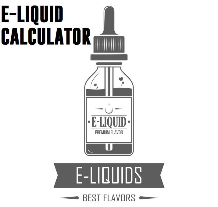 E liquid calculator Introducing our easy to use eliquid