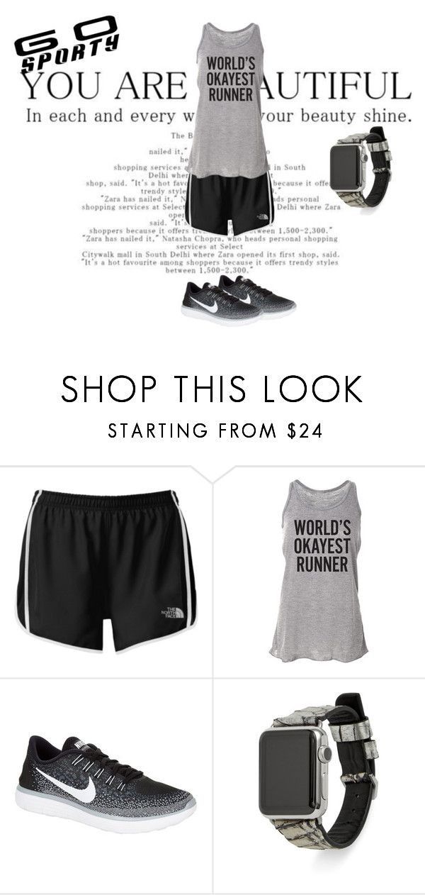"""Go Sporty"" by destiny-ellis-1 on Polyvore featuring The North Face, NIKE, Rebecca Minkoff and sportystyle"