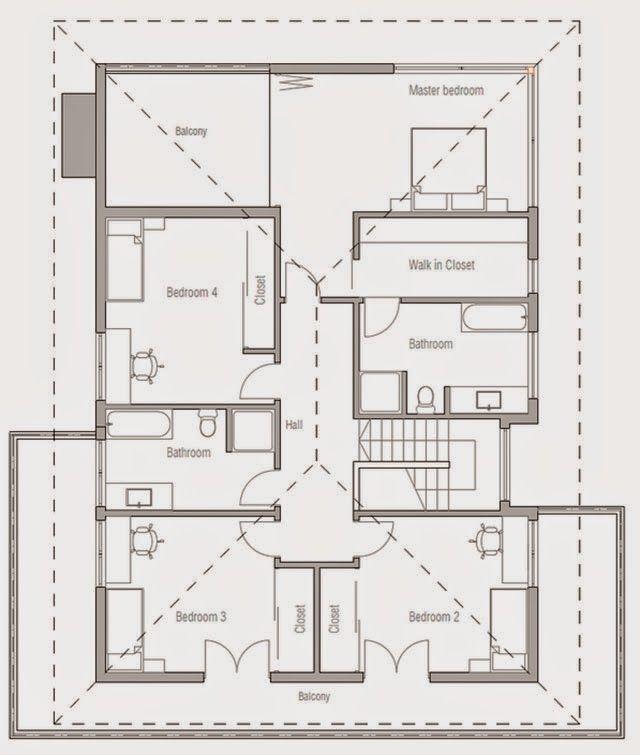 planos de casas 4 dormitorios