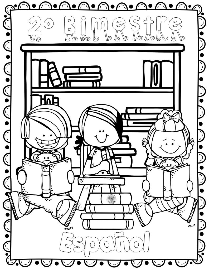 Portada Espanol Bloque Ii Portada Segundo Bimestre De Espanol Portada Espanol Bloque 2 Caratulas Para Cuadernos Escolares Bimestre Dibujo De Escuela