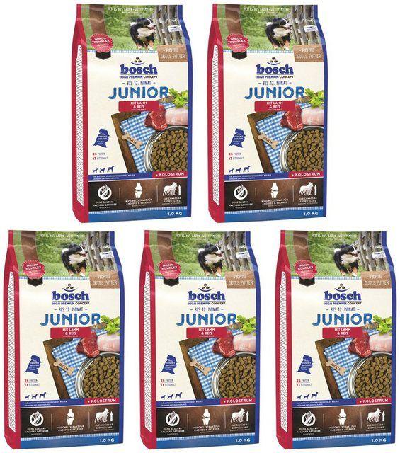 Hundetrockenfutter Junior Lamm Und Reis 5 Beutel A 1 Kg Hundetrockenfutter Lamm Beutel
