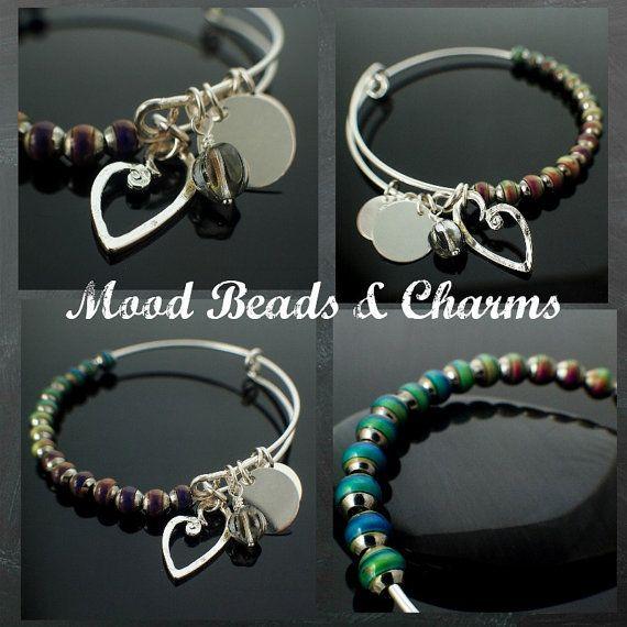 Bangle Bracelet Kit - Mood Beads and Charms - You Can Make This Snag ...