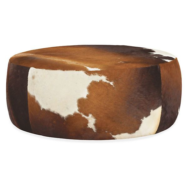 Lind Cowhide Round Ottomans | Sillones