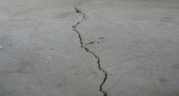 DIY fix garage floor cracks
