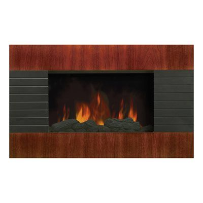Modern Homes 67500 Wall Mount Mahogany Fireplace *Fireplaces