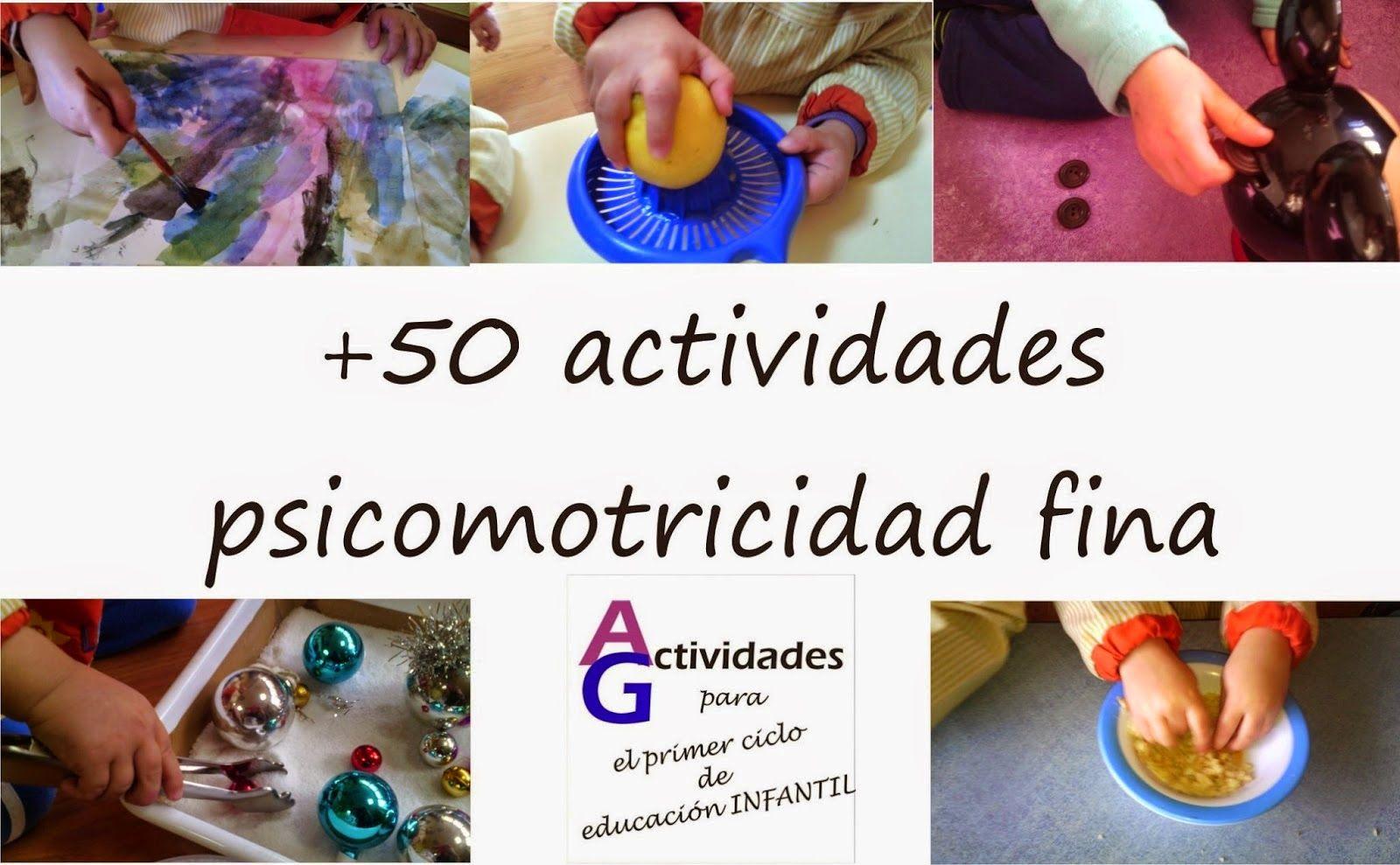 Recopilación De 50 Actividades Para Trabajar La Psicomotricidad Fina Psicomotricidad Fina Actividades Para Motricidad Fina Educacion Infantil