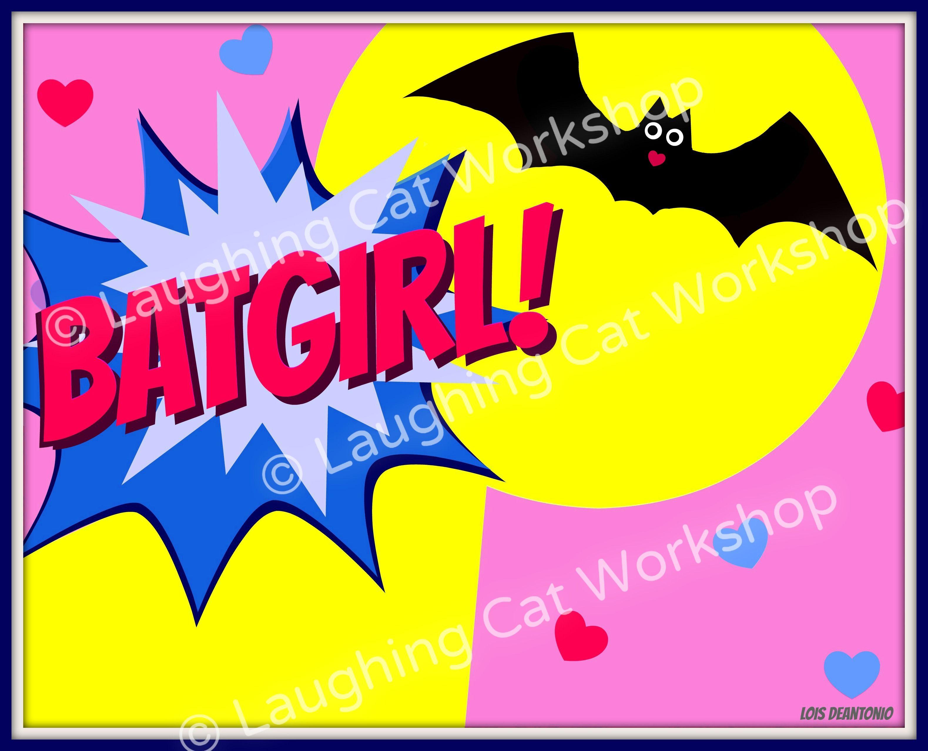 Batgirl wall art for girls! tinyurl.com/mrnn77t #girls #Batman ...