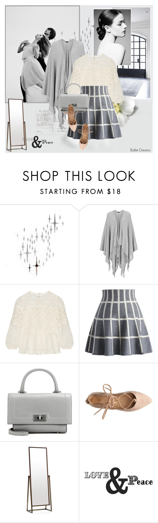 """Ballet Dreams"" by giko-is-giantsister ❤ liked on Polyvore featuring DOMESTIC, Joseph, Burberry, Chicwish, Givenchy, Mitchell Gold + Bob Williams, WallPops, women's clothing, women and female"