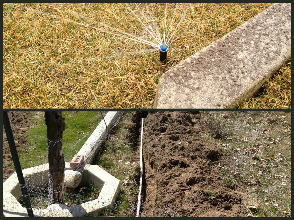 Sprinkler System Install for this Back Yard in Sandy Utah ...