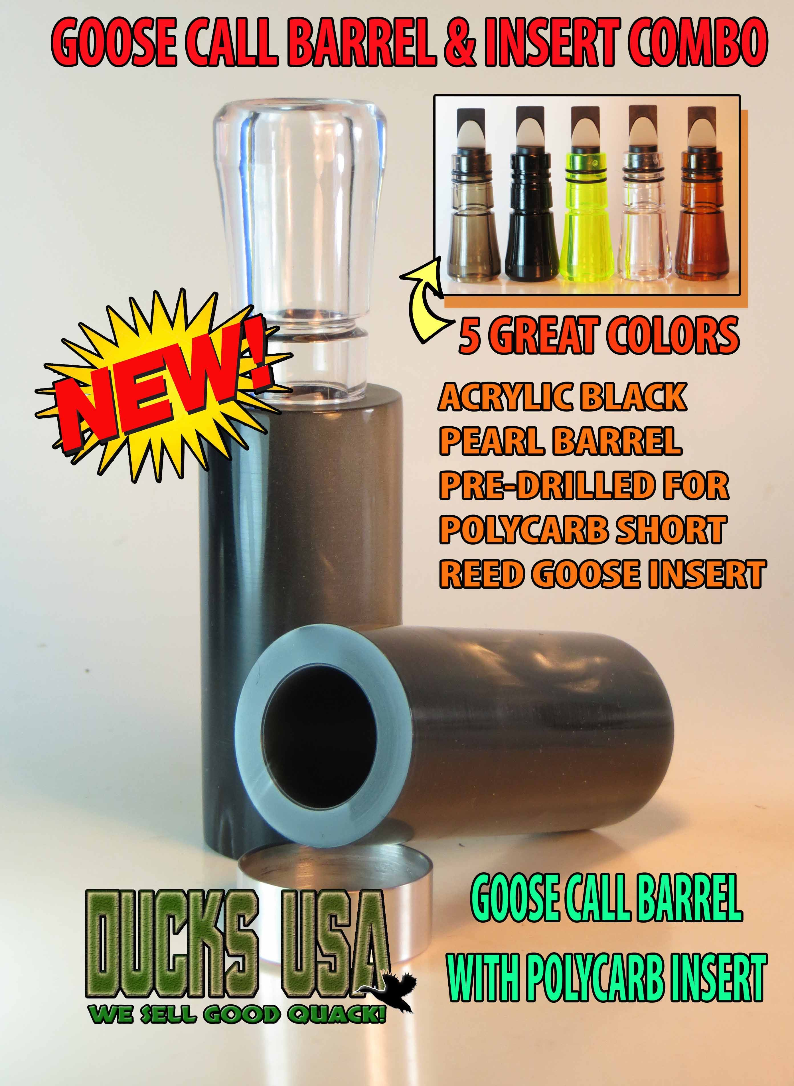 Duck Call Insert Polycarbonate Various Colors