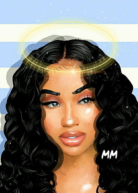 Pin by kαmílα on ɢᴜʀʟʏ. ᴄᴀʀᴛᴏᴏɴ | Black girl art, Black