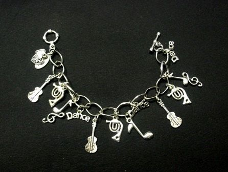 Musicals Charms Bracelets Musical Instruments