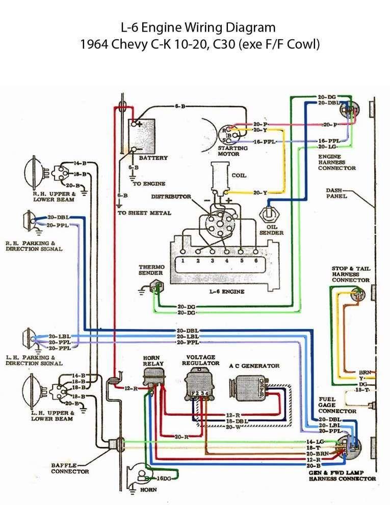 15 Basic Engine Wiring Diagram Engine Diagram Wiringg Net Chevy Trucks 1963 Chevy Truck Electrical Diagram
