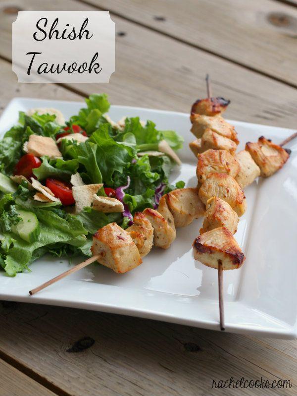 Shish Tawook Lebanese Marinated Chicken Skewers Rachel Cooks