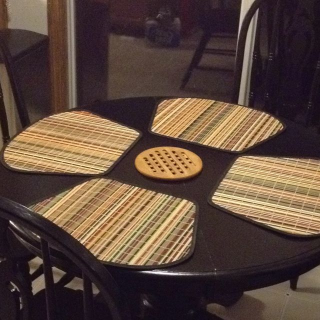 Perfect Shaped Placemats For A Small Round Table From Bed Bath